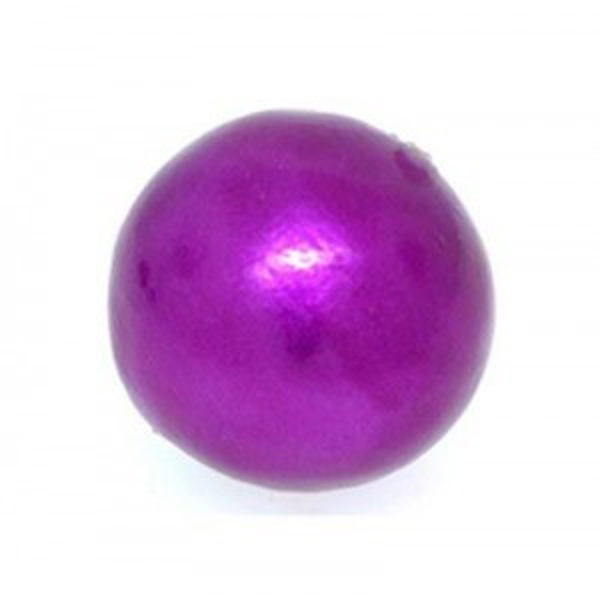 16mm Round Cotton Bead Fuchsia Pearl