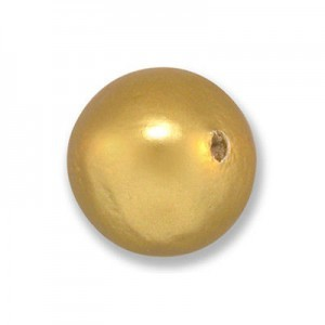 16mm Round Cotton Bead Gold Pearl