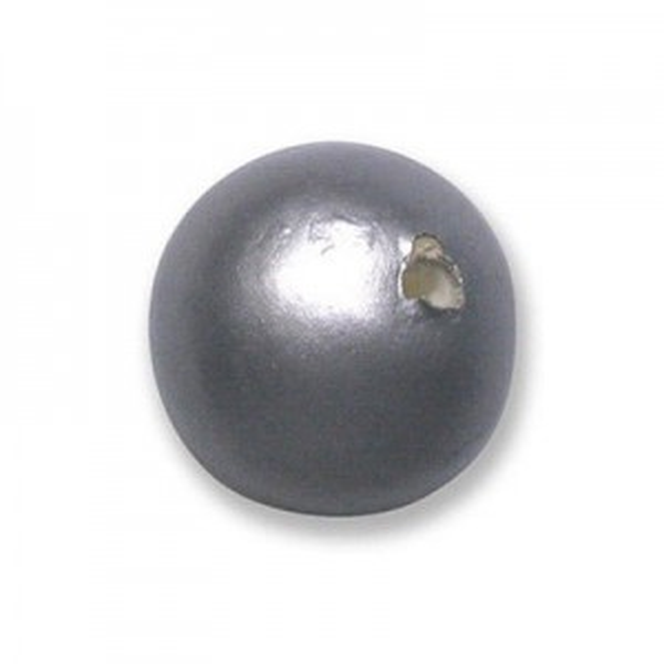 16mm Round Cotton Bead Hematite Pearl