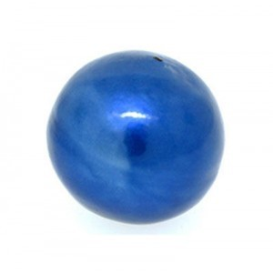16mm Round Cotton Bead Montana Blue Pearl