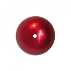 16mm Round Cotton Bead Red Pearl
