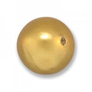 18mm Round Cotton Bead Gold Pearl