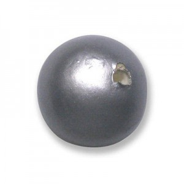 18mm Round Cotton Bead Hematite Pearl