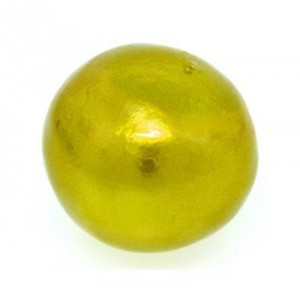 20mm Round Cotton Bead Chartreuse Pearl