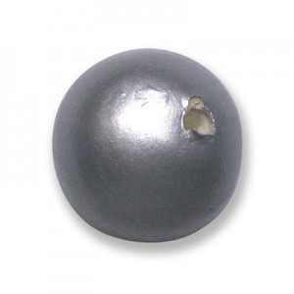 20mm Round Cotton Bead Hematite Pearl