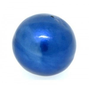 20mm Round Cotton Bead Montana Blue Pearl