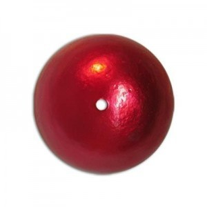 20mm Round Cotton Bead Red Pearl