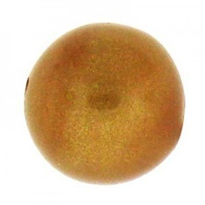20mm Round Cotton Bead Topaz Gold Pearl
