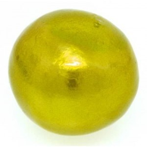 30mm Round Cotton Bead Chartreuse Pearl