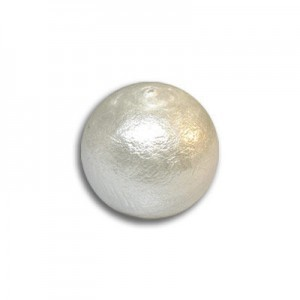 12mm Round Bridal White Cotton Pearl Bead