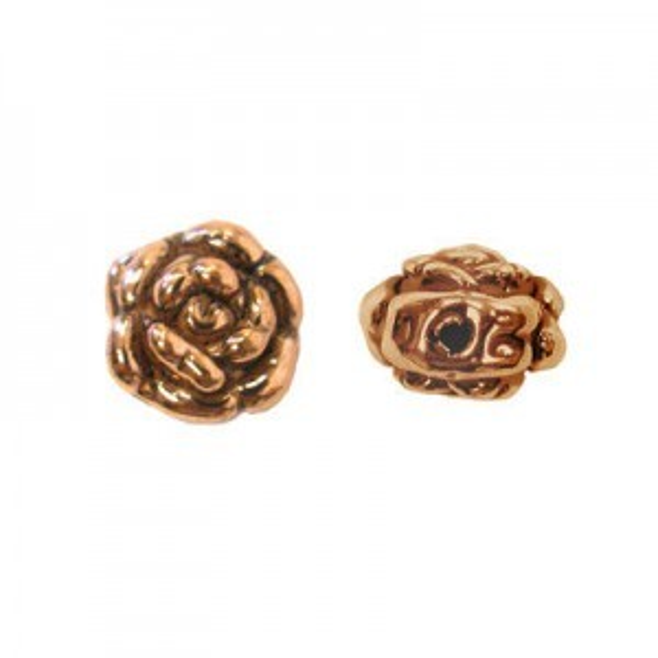 13mm Rosebud Light Weight Beads Genuine Copper 10 Pcs