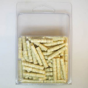 26x5mm Tube Bead Clamshell Packaged Beige (Apx 68 Pcs)