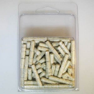 26x5mm Tube Bead Clamshell Packaged Gray (Apx 68 Pcs)