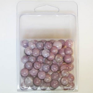 8mm Smooth Round Marble Bead Clamshell Packaged Lilac Marble (Apx 90 Pcs)