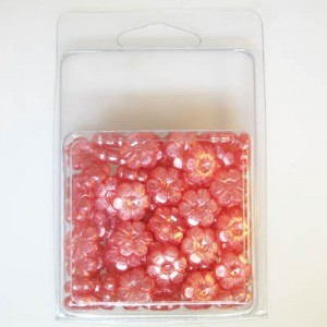 13mm Sunflower Bead Clamshell Packaged Silk Pink (Apx 84 Pcs)