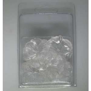 30mm Flower Bead Clamshell Packaged Crystal (Apx 6 Pcs)