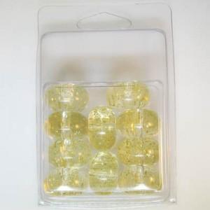 13.5x22mm Belly Rondelle with Gold Fleck Clamshell Packaged Crystal(Apx 10 Pcs)