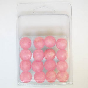 15mm Large Hole Crackle Bead Clamshell Packaged Rose (Apx 16 Pcs)