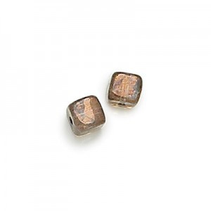 5x7mm Lumi Brown Cube Beads Loose (600pc)