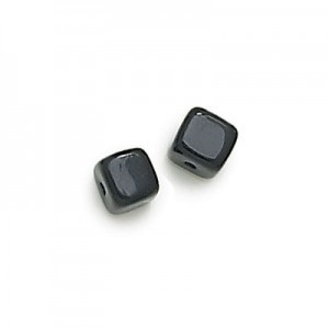 5x7mm Jet Cube Beads Loose (600pc)
