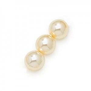 3mm Cream Smooth Round Pearls (600pc)