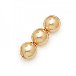 3mm Gold Smooth Round Czech Glass Pearls (600pc)