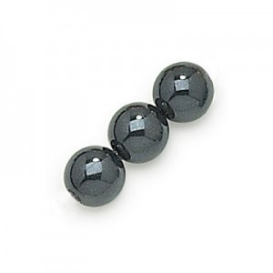 3mm Black Smooth Round Pearls (600pc)