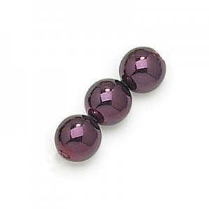 3mm Eggplant Smooth Round Pearls (600pc)