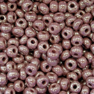 11/0 Brown Opaque Luster Czech Seed Beads - Hank: 12 Strings of 20 Inch (Apx 36g)