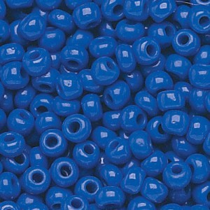 11/0 Royal Blue Opaque Czech Seed Beads - Hank: 12 Strings of 20 Inch (Apx 36g)