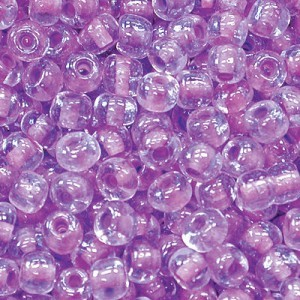 11/0 Crystal Purple-Lined Czech Seed Beads - Hank: 12 Strings of 20 Inch (Apx 36g)