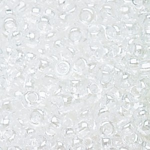 11/0 Crystal Luster Czech Seed Beads - Hank: 12 Strings of 20 Inch (Apx 36g)
