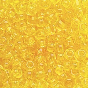 11/0 Yellow Czech Seed Beads - Hank: 12 Strings of 20 Inch (Apx 36g)