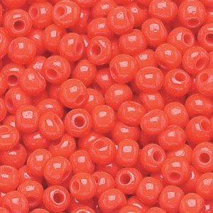 11/0 Bright Red Opaque Czech Seed Beads - Hank: 12 Strings of 20 Inch (Apx 36g)