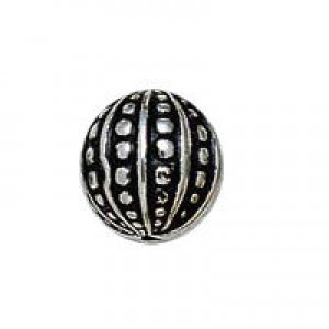 12mm Dimpled Onion Bead Antique Silver