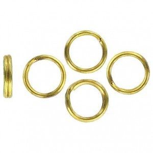 Split Ring 9mm Goldtone (1000pc)