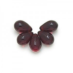 6x9mm Garnet Side Drill Glass Tear Drops Loose (300pc)