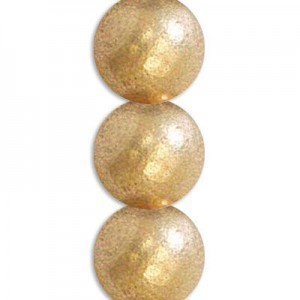 3mm Matte Gold Round Smooth Druk Czech Beads - 7 Inch Strand (Apx 59 Beads)