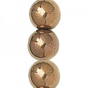 4mm Light Bronze Round Smooth Druk Czech Beads - 7 Inch Strand (Apx 44 Beads)