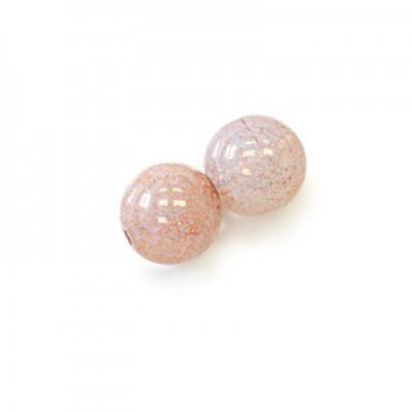 10mm Milky Lumi Pink Smooth Round Czech Glass Druk Loose (300pc)
