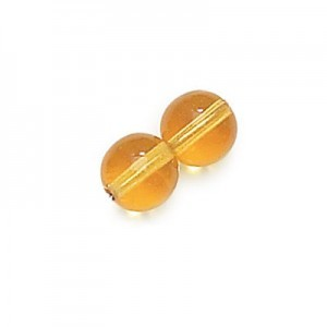 3mm Amber Smooth Round Druk Loose (600pc)