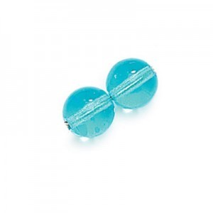 3mm Aqua Smooth Round Druk Loose (600pc)