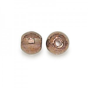 8mm Lumi Brown Smooth Round Czech Glass Druk 2mm Hole Loose (300pc)