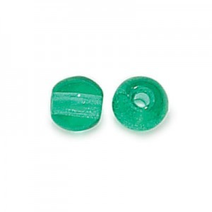 8mm Teal Smooth Round Czech Glass Druk 2mm Hole Loose (300pc)