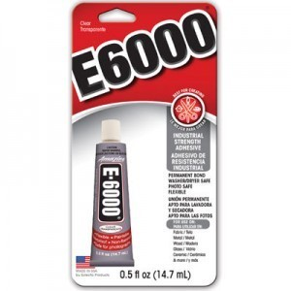 E-6000® Adhesive 0.5 Oz, Pkg of 12 (#230516)