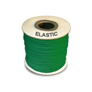 Elastic Stretchy Cord 0.8mm Neon Emerald 100m(328ft) Spool