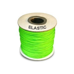 Elastic Stretchy Cord 0.8mm Neon Green 100m(328ft) Spool