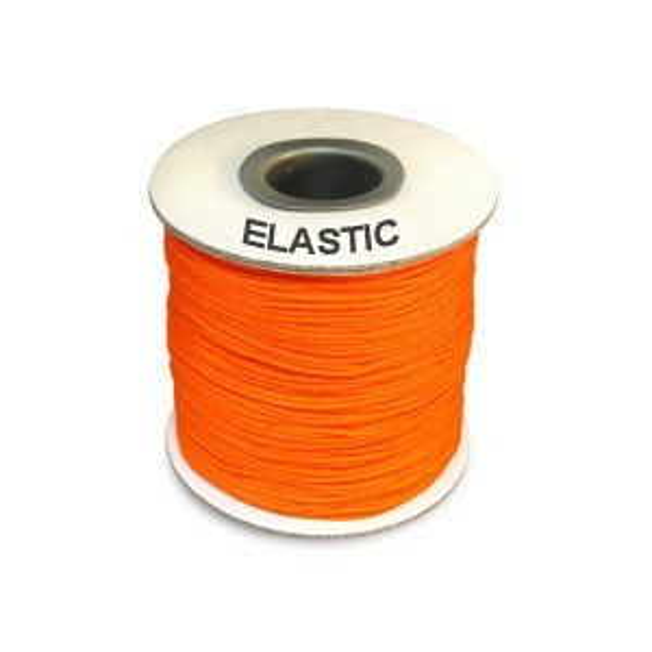 Elastic Stretchy Cord 0.8mm Neon Orange 100m(328ft) Spool