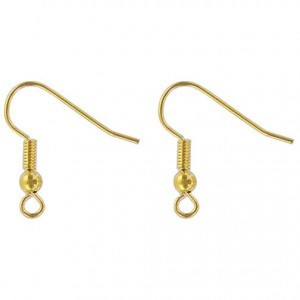 Ear Wire Gold Plate (100pc)