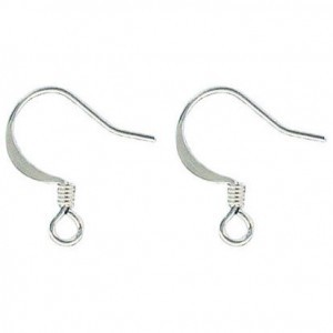 Ear Wire Silver Plate Lacquered (500pc)